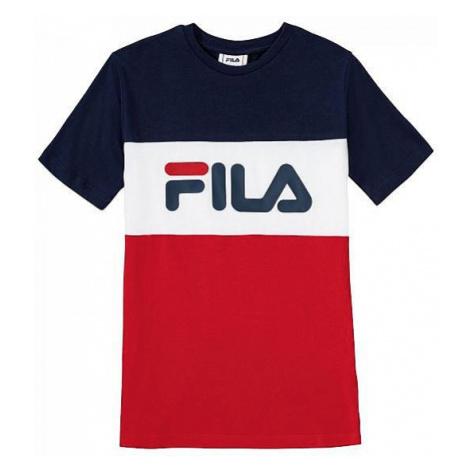 T-Shirt Fila Classic Day Blocked - Black Iris/True Red/Bright White - unisex junior