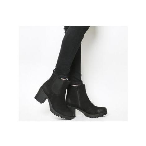 Vagabond Grace Heeled Chelsea Boots BLACK NUBUCK