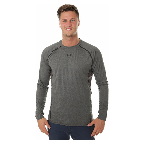 T-Shirt Under Armour HeatGear Compression LS - 090/Carbon Heather/Black - men´s