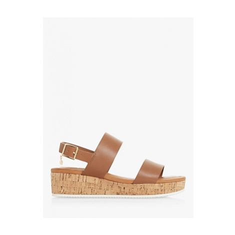 Dune Lenniie Leather Wedge Sandals