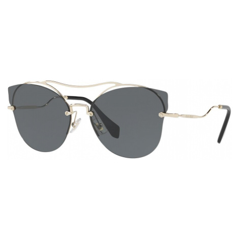 Miu Miu Woman MU 52SS - Frame color: Gold, Lens color: Grey-Black, Size 62-17/145