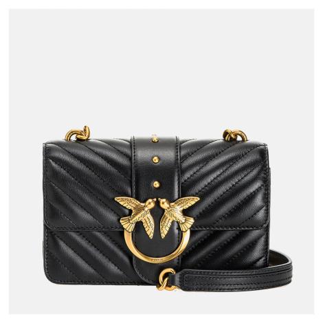 Pinko Women's Love Mini Icon Quilt Shoulder Bag - Black