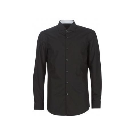 HUGO KERY men's Long sleeved Shirt in Black Hugo Boss