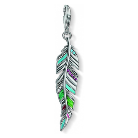 Ladies Thomas Sabo Sterling Silver Charm Club Ethnic Feather Charm Y0034-340-7