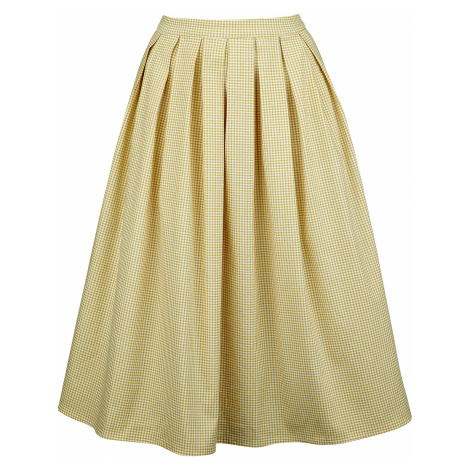 Banned Retro - Preppy Skirt - Skirt - yellow-white