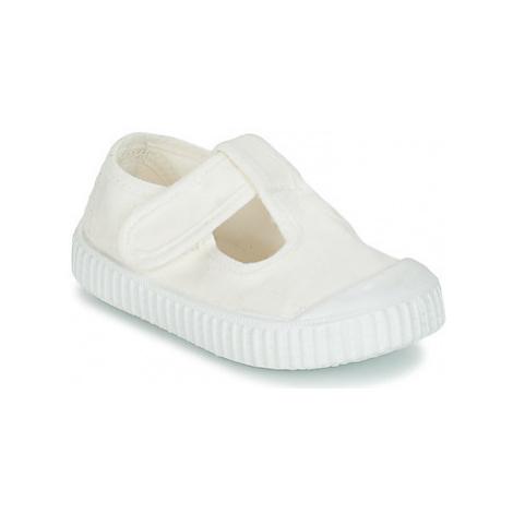 Victoria SANDALIA LONA TINTADA girls's Children's Shoes (Pumps / Ballerinas) in White