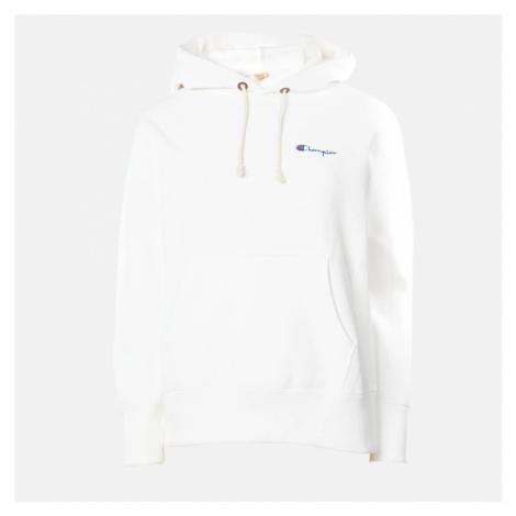 Champion Women's Small Script Hooded Sweatshirt - White