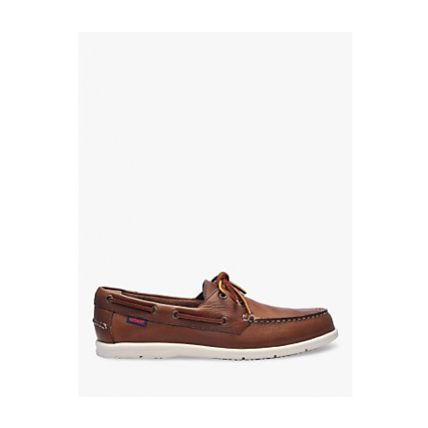 Sebago Naples Leather Boat Shoes, Dark Brown
