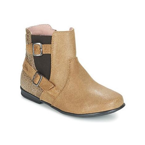Aster DESIA girls's Children's Mid Boots in Beige