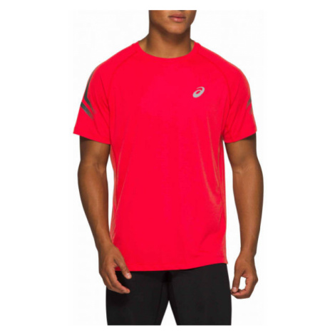Asics SILVER ICON TOP red - Men's running T-shirt