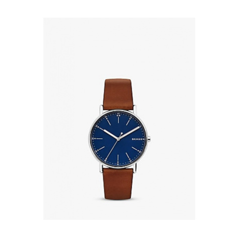 Skagen Men's Signatur Leather Strap Watch