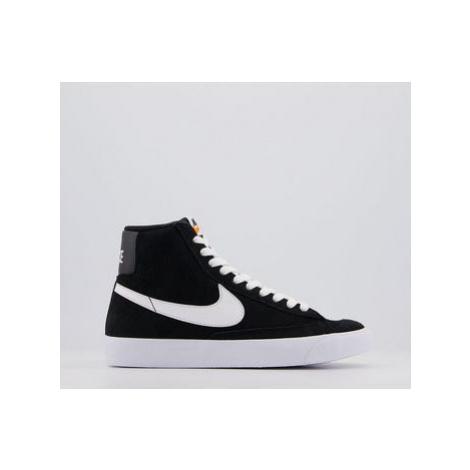 Nike Blazer Mid '77 Gs BLACK WHITE SUEDE