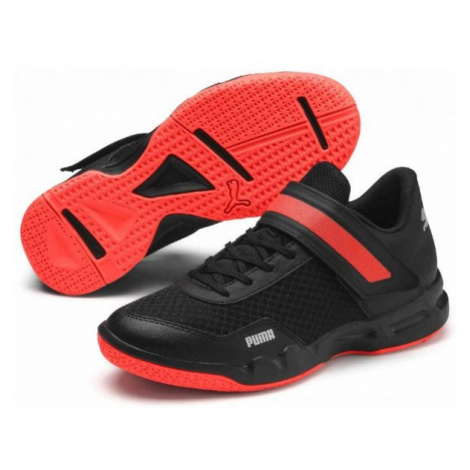 Puma RISE XT JR black - Kids' volleyball shoes
