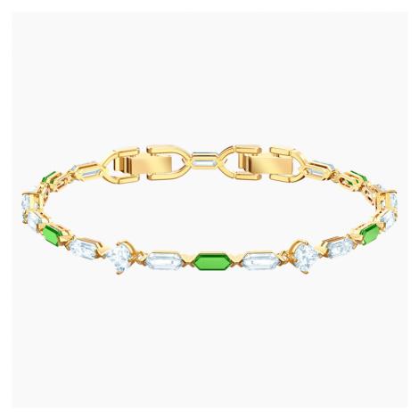 Oz Bracelet, White, Gold-tone plated Swarovski