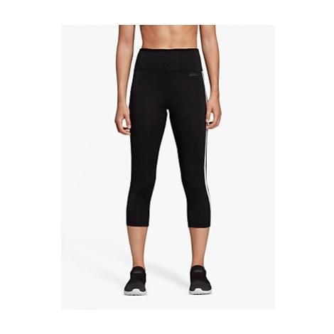 Adidas Design 2 Move 3 Stripes 3/4 Training Tights, Black
