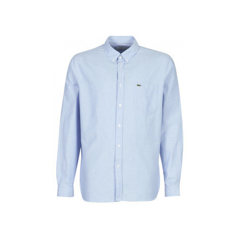 Lacoste CH4976 REGULAR FIT men's Long sleeved Shirt in Blue