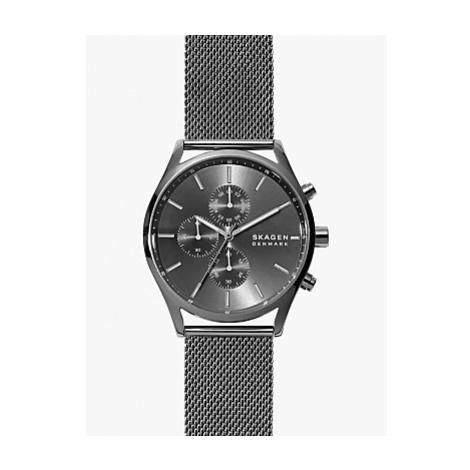 Skagen SKW6608 Men's Holst Sunray Dial Mesh Strap Watch, Black/Gunmetal