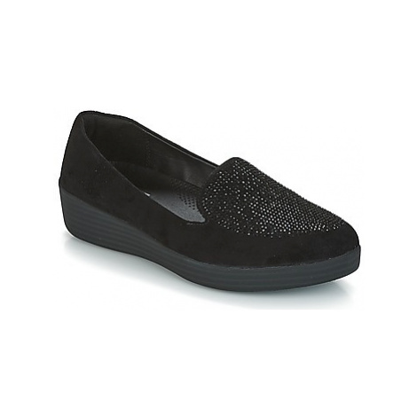 FitFlop SPARKLY SNEAKERLOAFER women's Shoes (Trainers) in Black