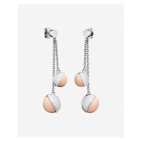 Calvin Klein Earrings Silver Beige