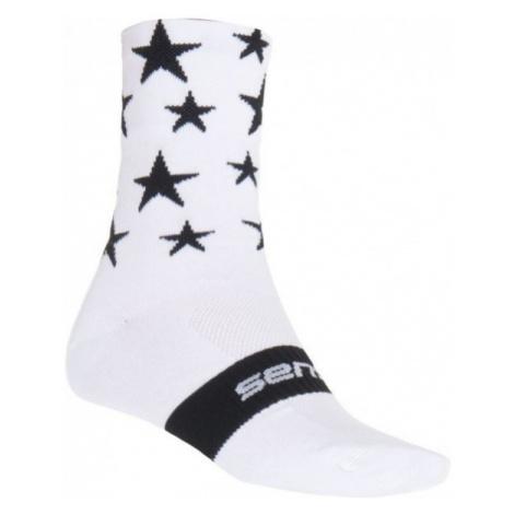 Sensor STARS white - Cycling socks
