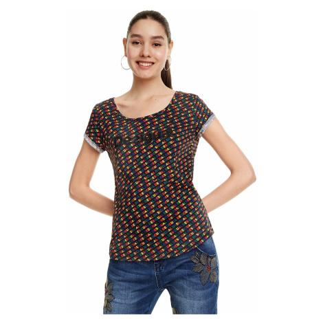 T-Shirt Desigual 19SWTKCF/Dilon - 2000/Negro - women´s