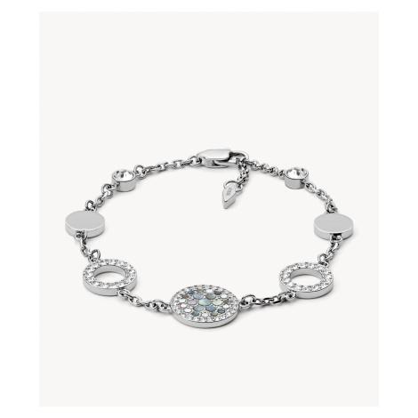 Fossil Women's Vintage Glitz Crystal Bracelet - Silver Gray