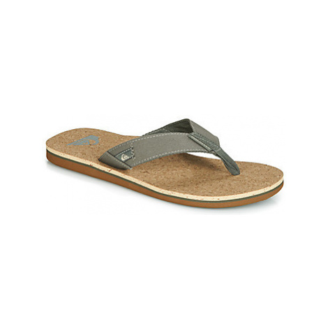 Quiksilver MOLO ABYSS CORK M SNDL XGGG men's Flip flops / Sandals (Shoes) in Green