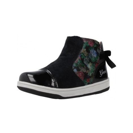 Geox B NEW FLICK GIRL girls's Children's Shoes (High-top Trainers) in Black