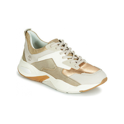 Timberland DELPHIVILLE LEATHER SNEAKER women's Shoes (Trainers) in Gold