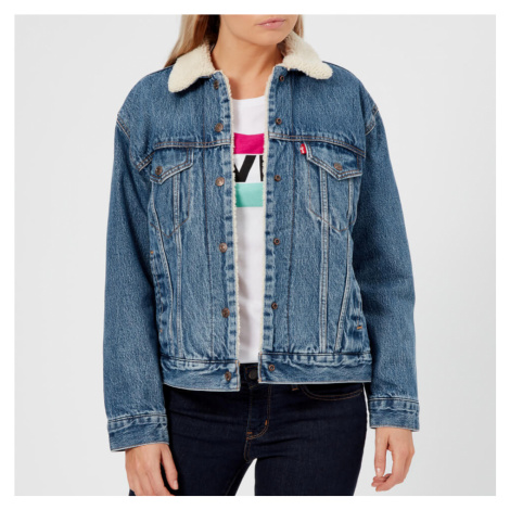 Levi's Women's Ex-Boyfriend Sherpa Trucker Jacket - Addicted To Love - Blue Levi´s
