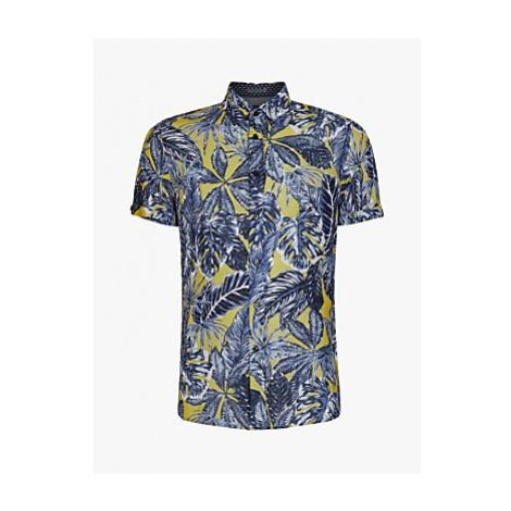 Ted Baker Upward Lead Print Shirt, Yellow