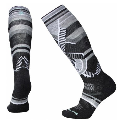 socks Smartwool PhD Ski Medium Pattern - Charcoal - women´s