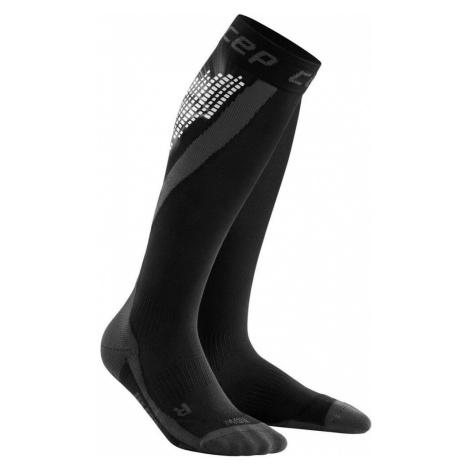 Black women's thermal over-the-calf socks
