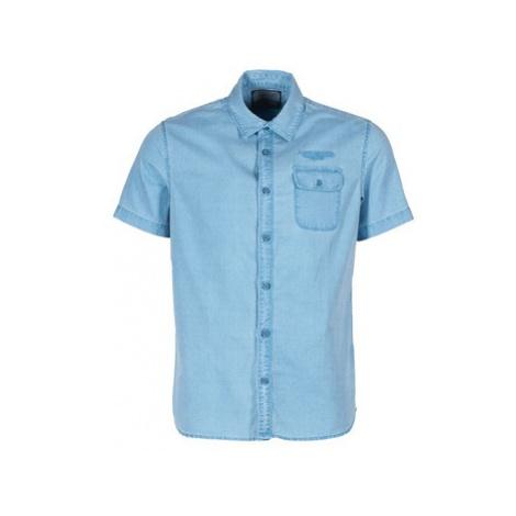 Petrol Industries OBOULAI men's Short sleeved Shirt in Blue