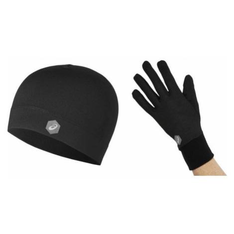 Asics RUNNING PACK black - Hat and gloves