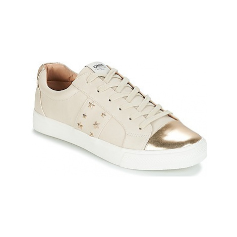 Only SKYE STUDS SNEAKER women's Shoes (Trainers) in Beige