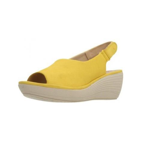 Clarks REEDLY SHAINA YELLOW NUBUC women's Sandals in Yellow