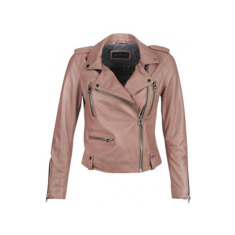 Oakwood NIGHT women's Leather jacket in Pink