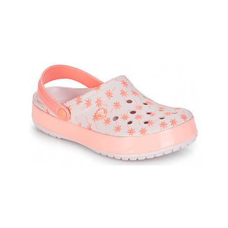 Crocs CROCBAND SEASONAL GRAPHIC CLOG women's Clogs (Shoes) in Pink