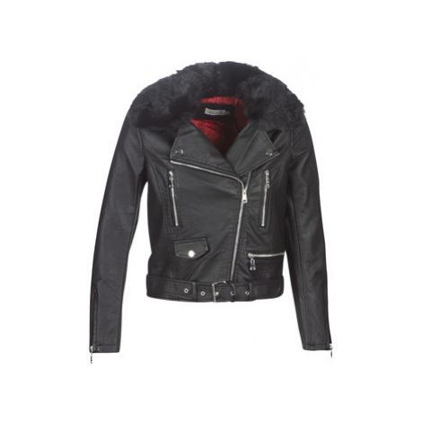 Molly Bracken HA006A21 women's Leather jacket in Black