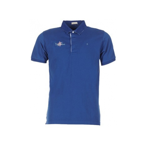 Serge Blanco POWER FLOWER men's Polo shirt in Blue