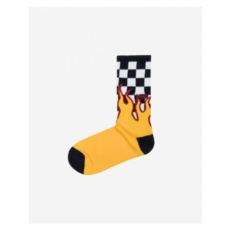 Vans Flame Check Socks Yellow