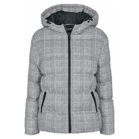 Urban Classics - Ladies AOP Glencheck Puffer Jacket - Winter jacket - black-white