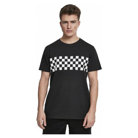 T-Shirt Urban Classics Check Panel/TB2685 - Black/White - men´s