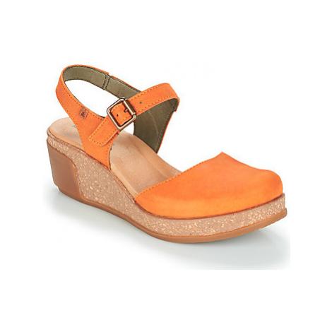 El Naturalista LEAVES women's Sandals in Orange