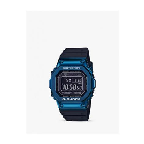 Casio Men's G-Shock GMW-B5000G-2ER Digital Resin Strap Watch, Black/Blue