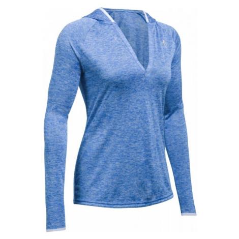 Under Armour TECH LS HOODY - TWIST blue - Women's sweatshirt