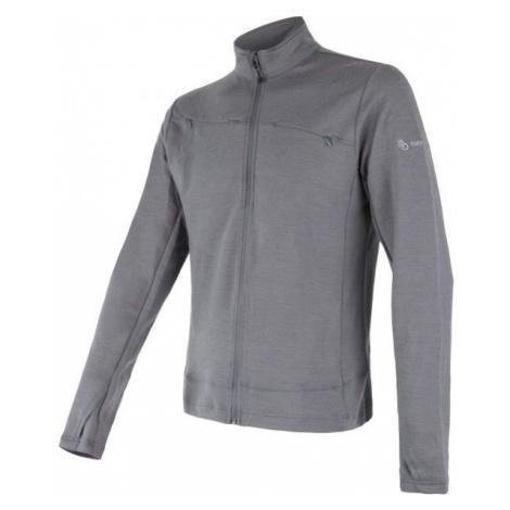 Sensor MERINO UPPER grey - Men's sweatshirt