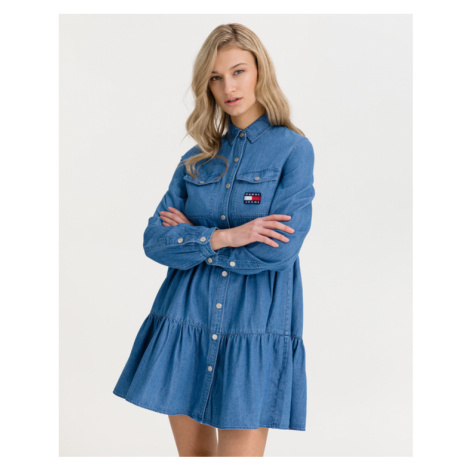 Tommy Jeans Chambray Dress Blue Tommy Hilfiger