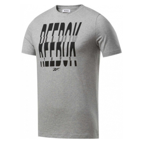 Reebok GS REEBOK 1895 CREW TEE gray - Men's T-shirt